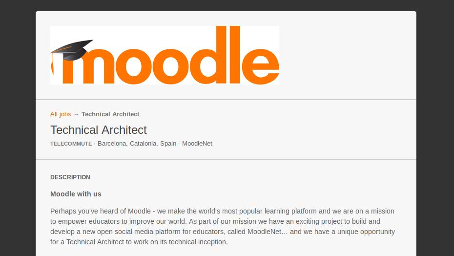 MoodleNet Technical Architect